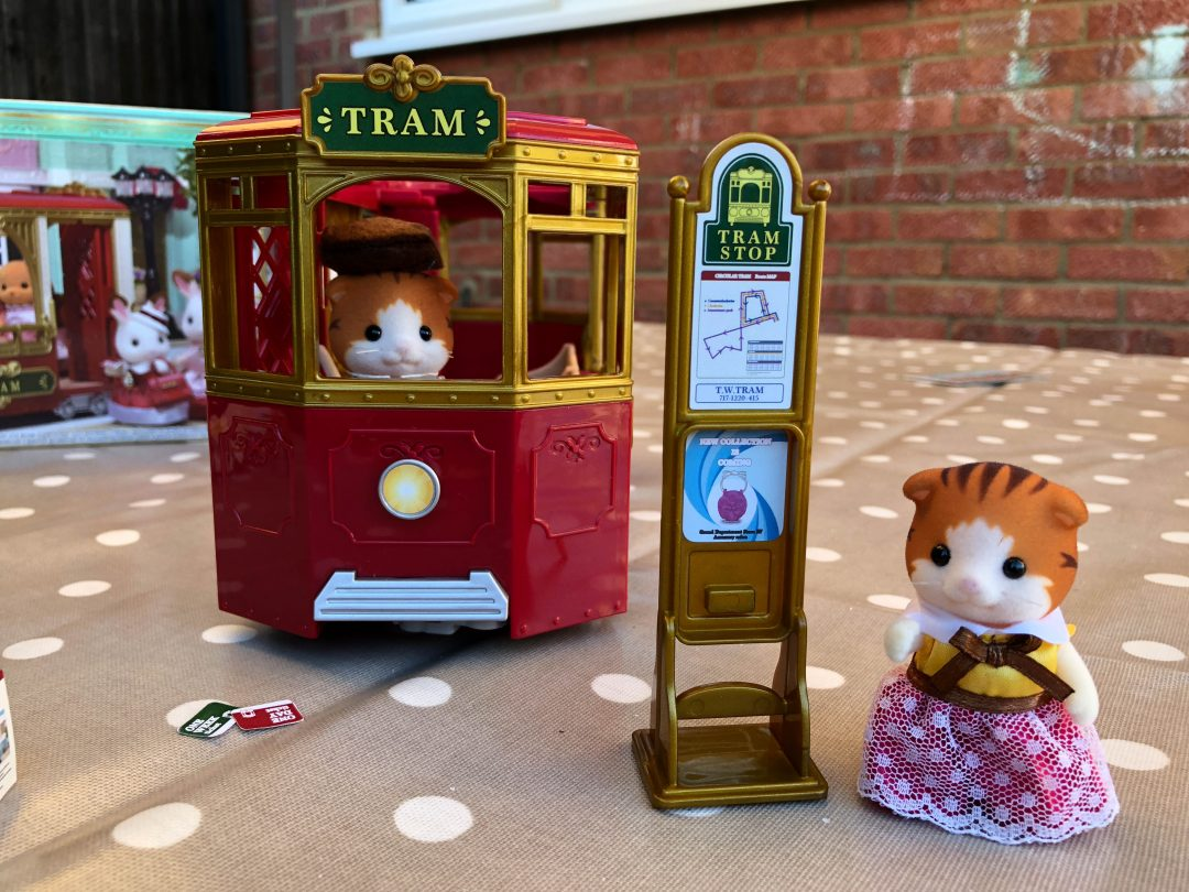 Sylvanian Families Town Ride Along Tram