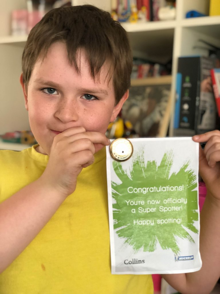 child with i-SPY certificate