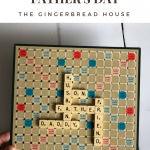DIY framed Father's Day Scrabble art gift