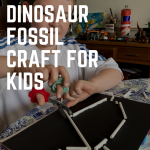 Easy dinosaur fossil craft for kids