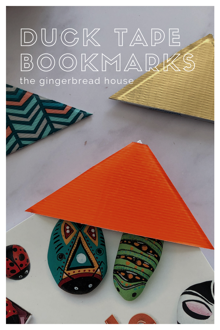 Back to School Duck Tape bookmarks