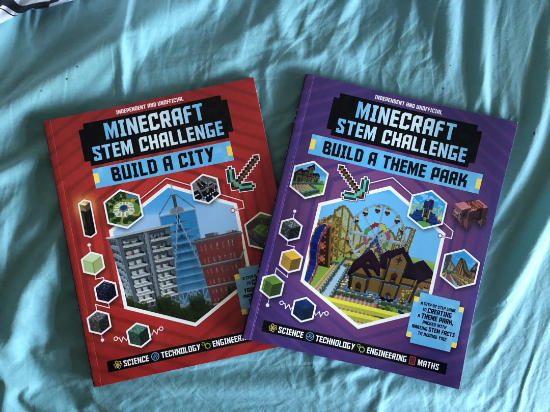 Minecraft STEM Challenge books for kids