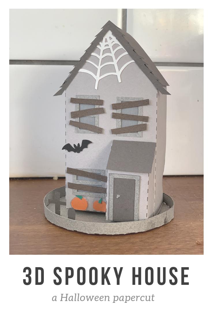 3D Spooky House papercut Halloween decoration