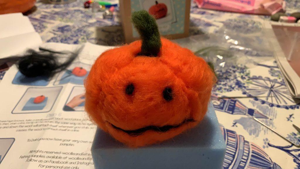 Autumn felted pumpkin
