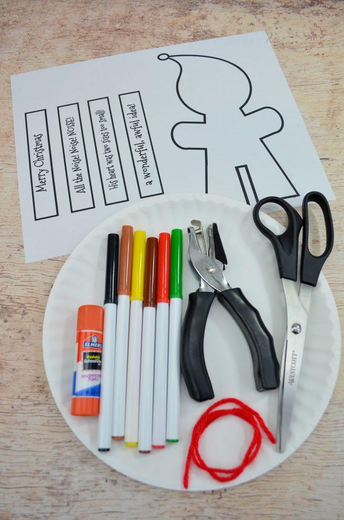 the grinch craft supplies