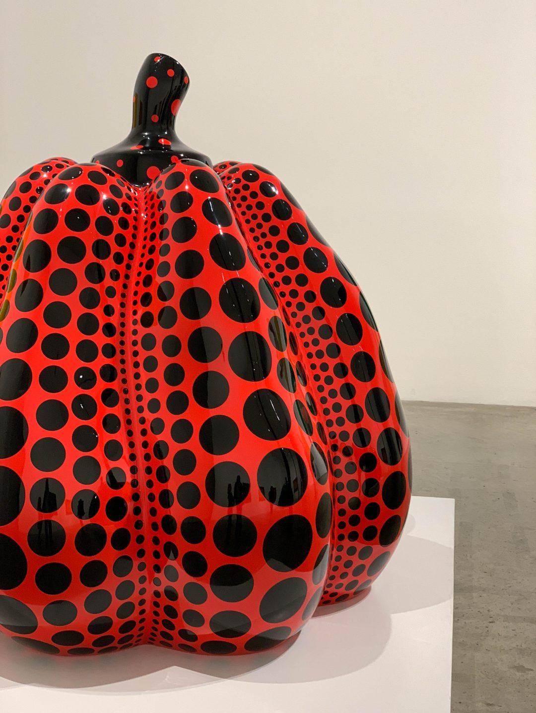 Yayoi Kusama pumpkins and paintings in London