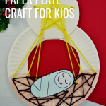 Nativity lacing paper plate craft for kids