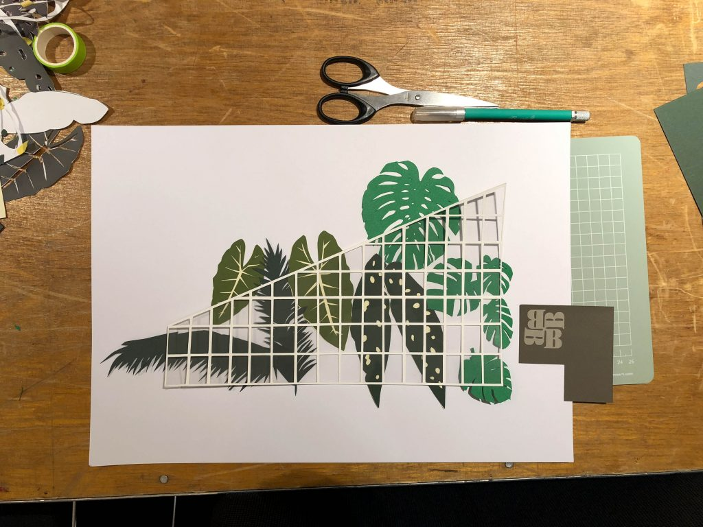 Barbican Conservatory inspired botanical paper cut