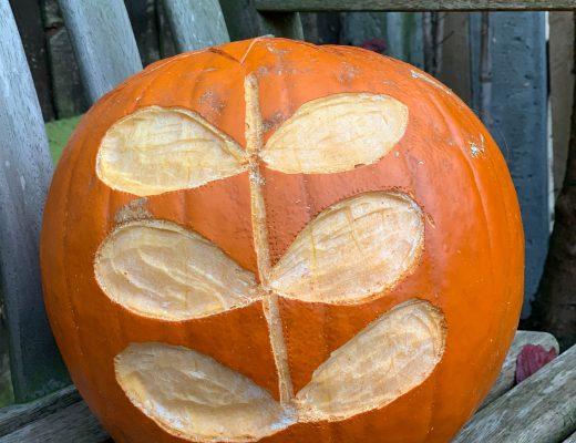 Orla Kiely inspired pumpkin
