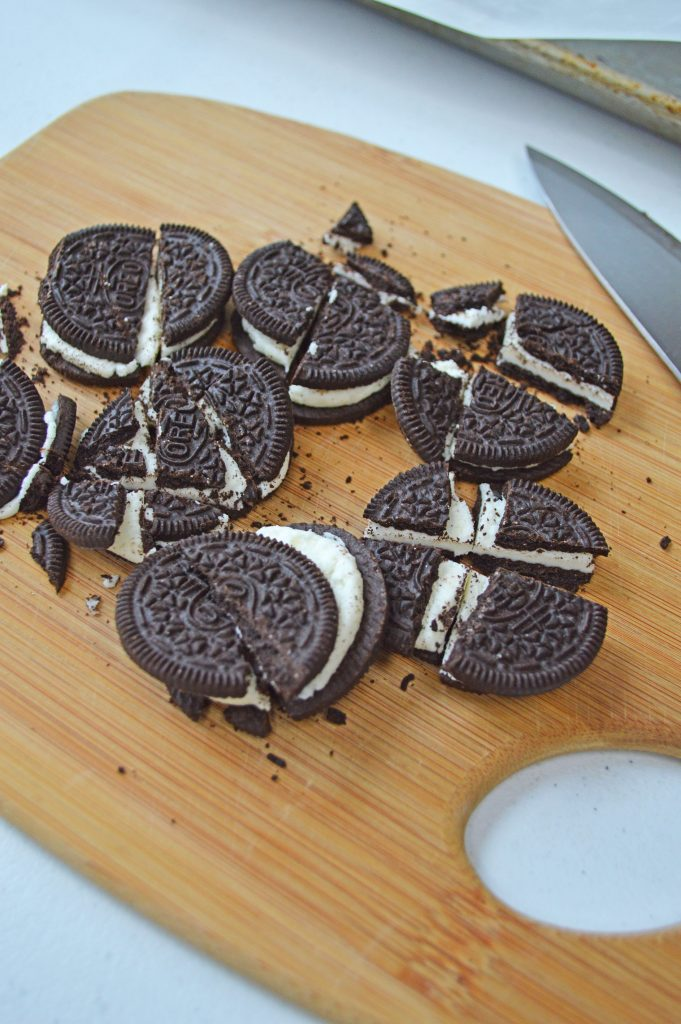 crushed oreo biscuits