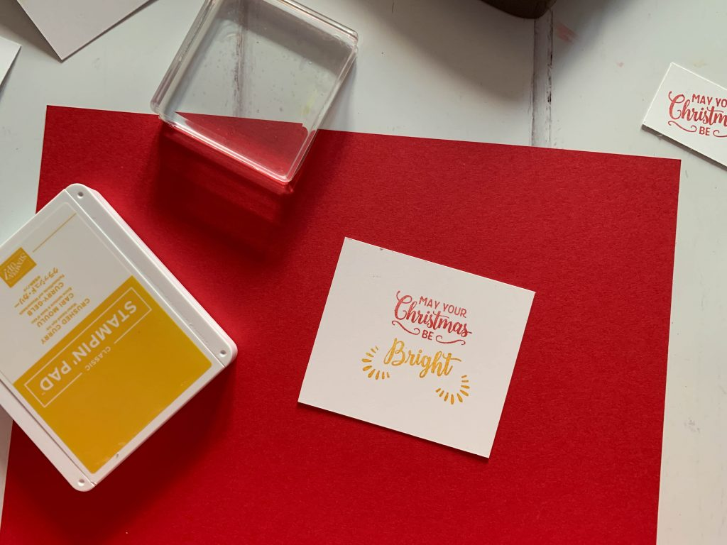 Stampin' Up! card making