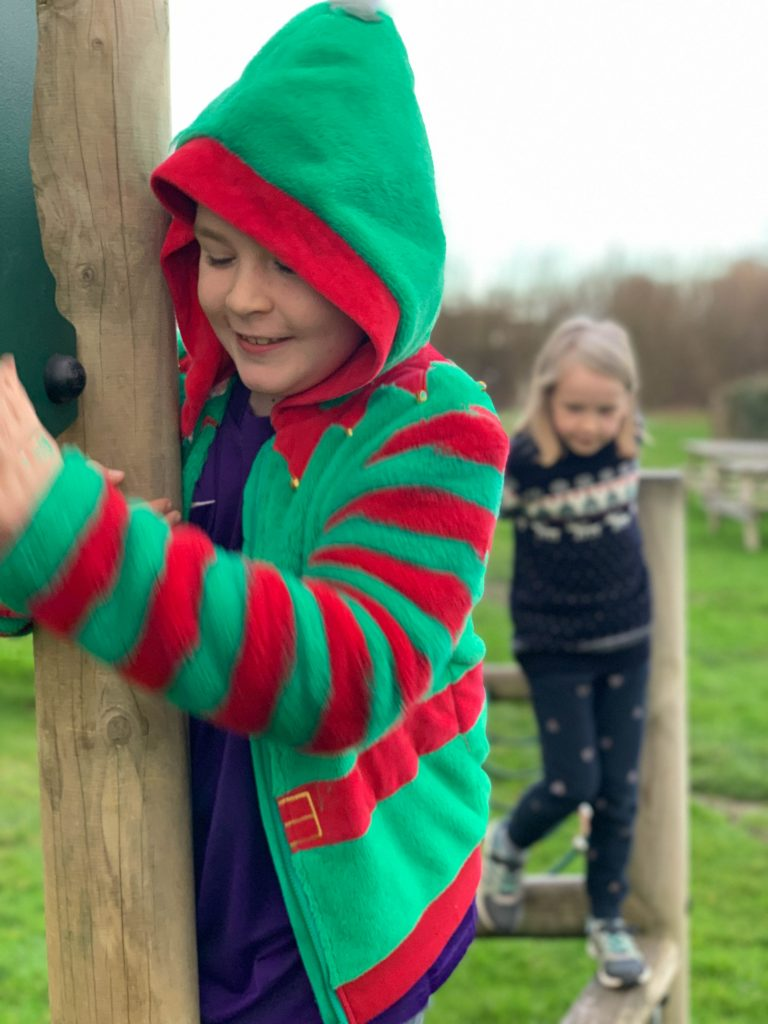 exploring the outside play area at WSC