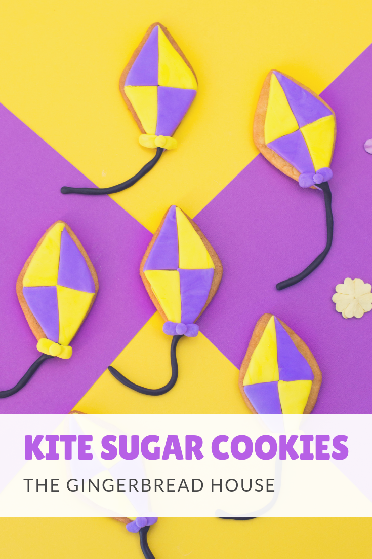 Kite Sugar Cookies tutorial from the gingerbread house blog