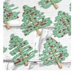 Chocolate Christmas tree pretzels recipe