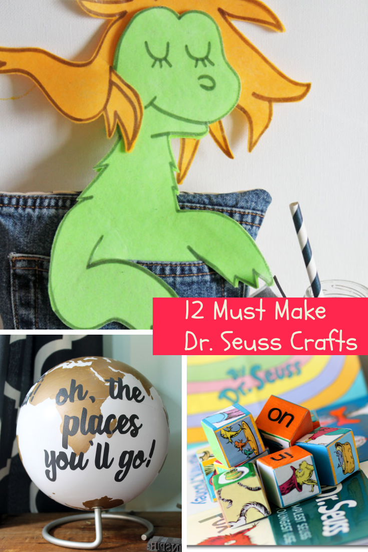 12 Must Make Dr. Seuss Crafts from the gingerbread house blog