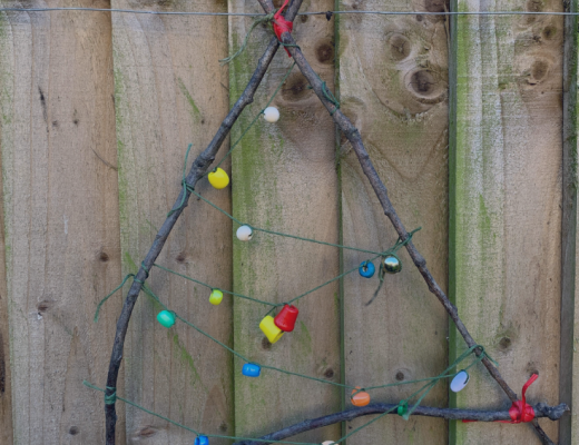 Crafting with twigs {twig tree decoration} from the gingerbread house blog