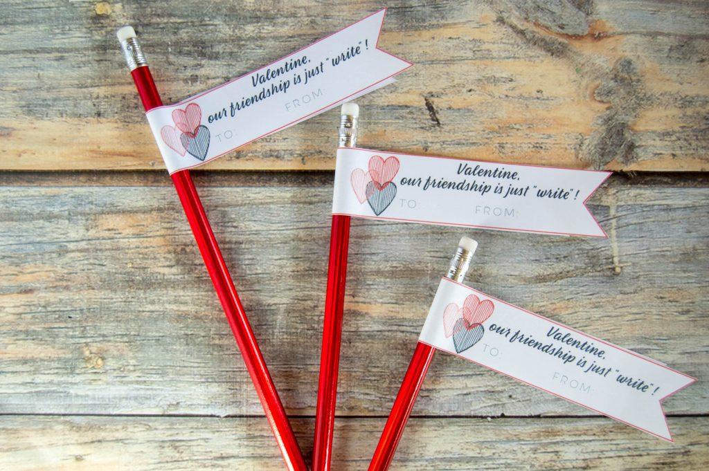 Valentine's pencil topper