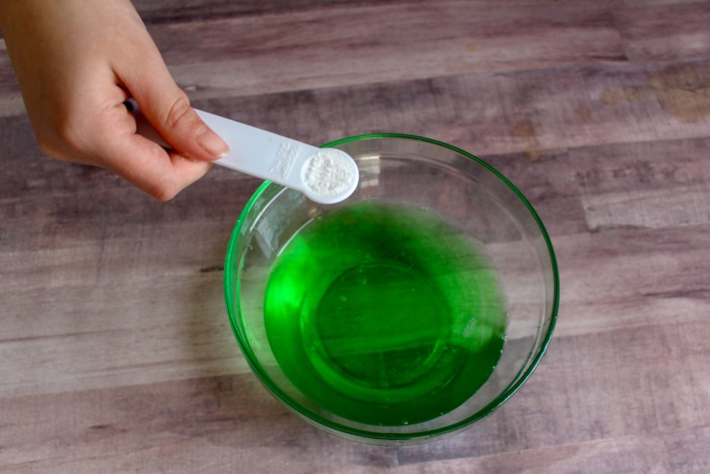 DIY Fortnite Slurp Juice Slime recipe for kids