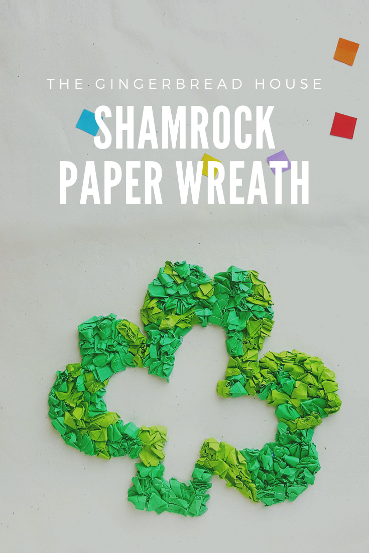 Shamrock Paper Wreath from the gingerbread house blog