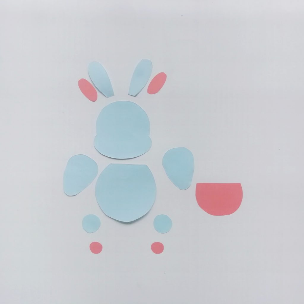 Easter paper bunny craft for kids