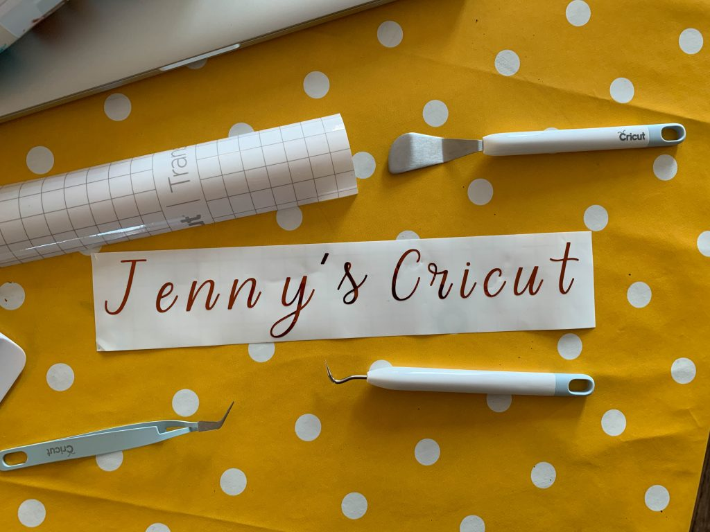 Making a personalised name label for my Cricut Machine