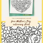 Free Mother's Day colouring page for kids