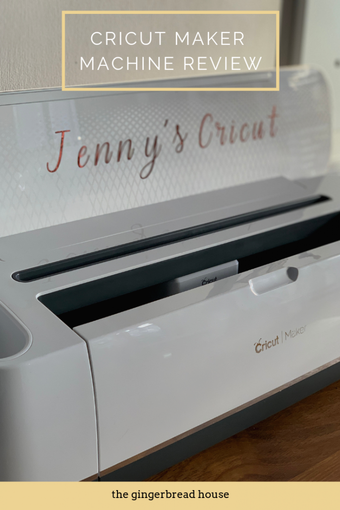 Cricut Maker Machine Review and how to cut a personalised vinyl from the gingerbread house