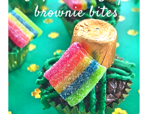 St Patrick's Day Brownie Bites recipe from the gingerbread house