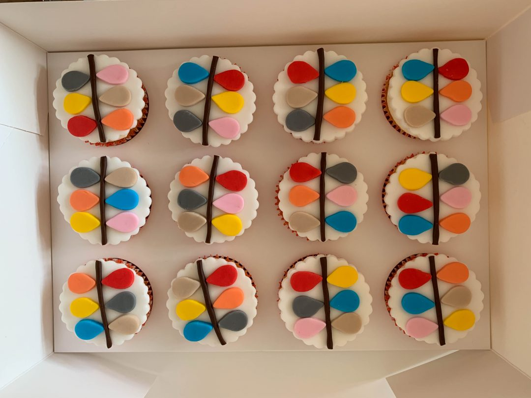 Orla Kiely inspired cupcakes