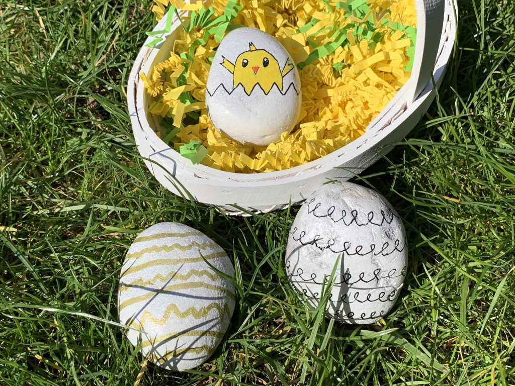 Easter themed painted rock ideas