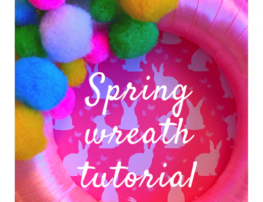 Pom pom Spring wreath tutorial