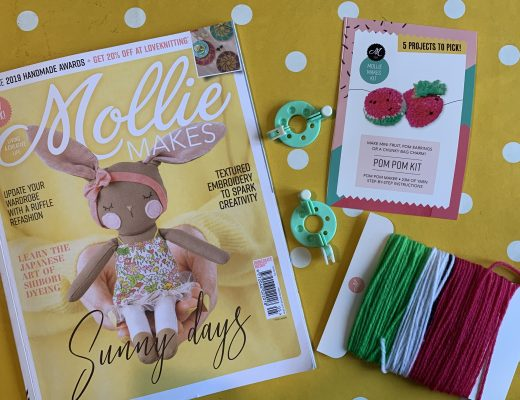 crafting with Mollie Makes magazine