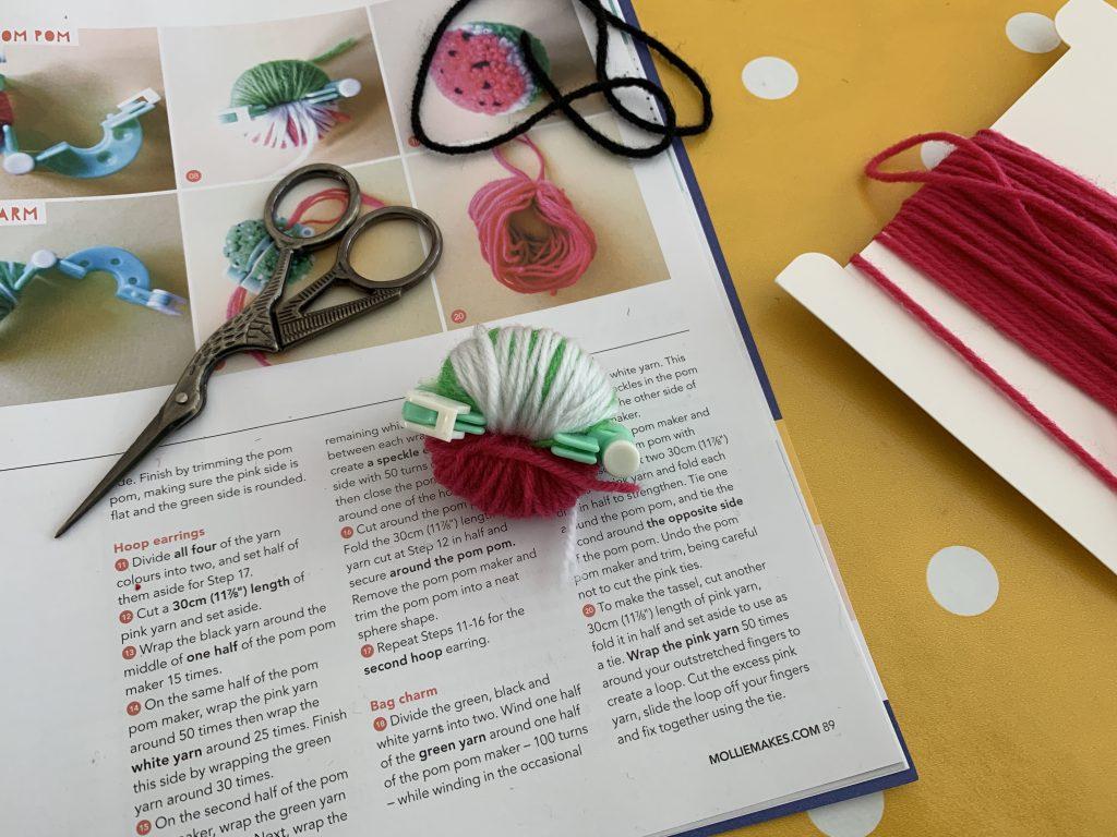 Pom Pom watermelon craft