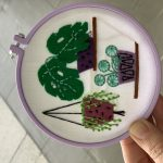 Botanical succulents hoop art