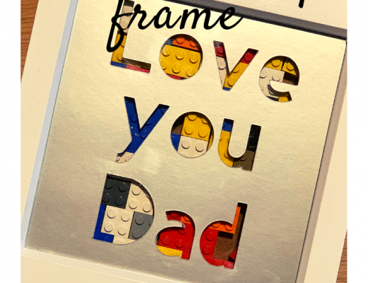 Cricut made Father's Day Lego frame