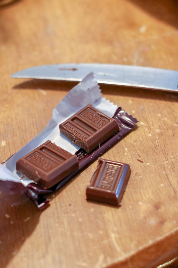 cutting chocolate into squares