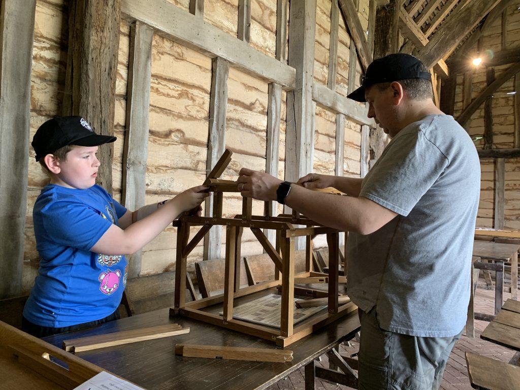building a model barn at COAM