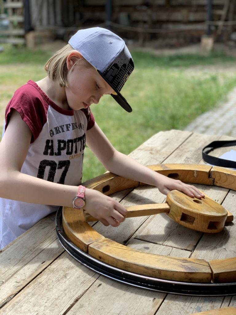 model of a wooden wheel at COAM