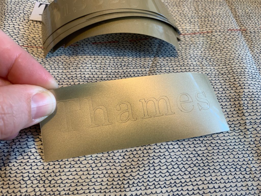a word cut out on a Cricut Maker