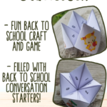 {Free printable} Back to School Chatterbox