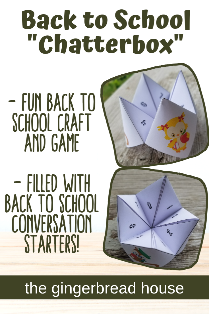 back to school chatterbox printable