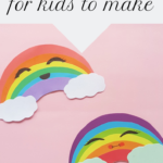 Paper rainbow craft for kids to make