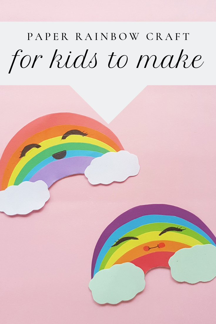 Paper rainbow craft for kids to make from the gingerbread house blog