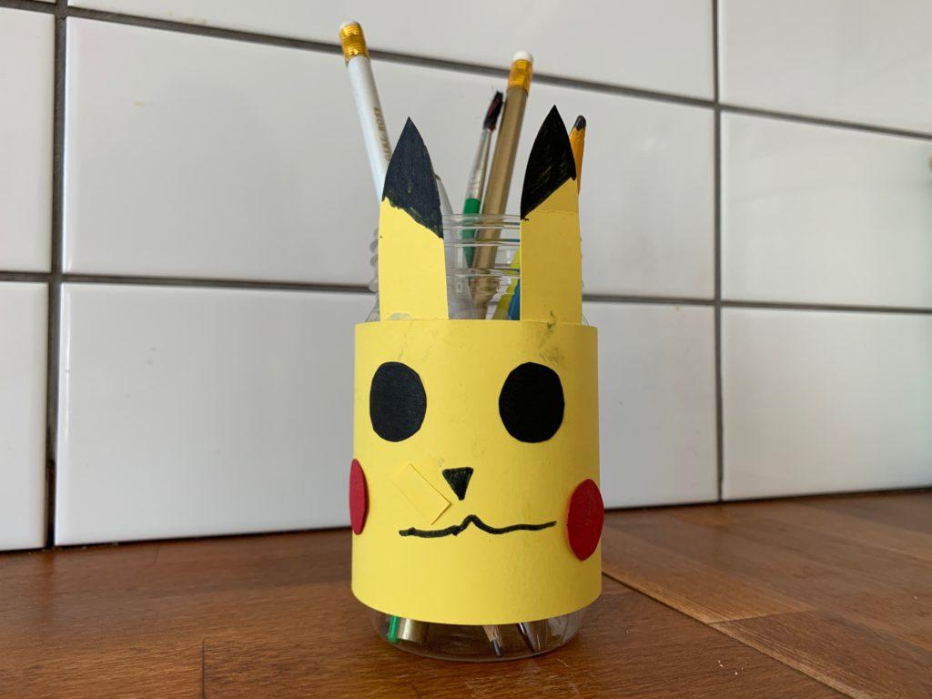 Pikachu desk tidy craft for kids