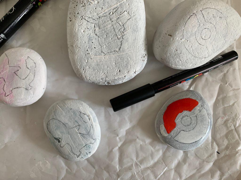 decorating painted rocks