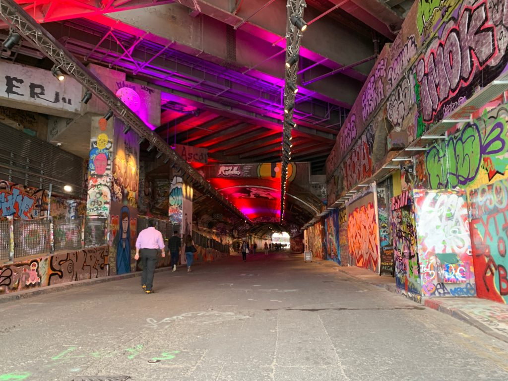 entrance to Leake Street Tunnel