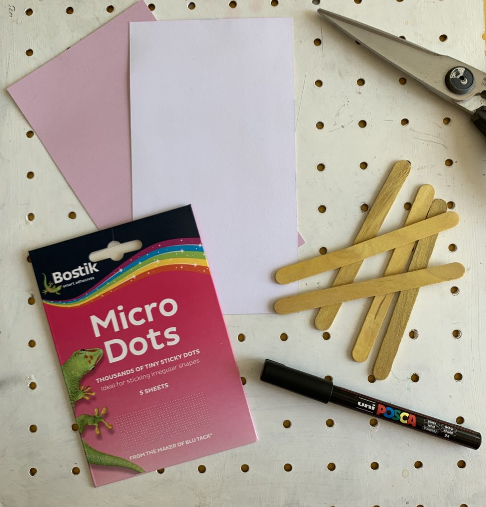 How to make a craft stick pencil bookmark