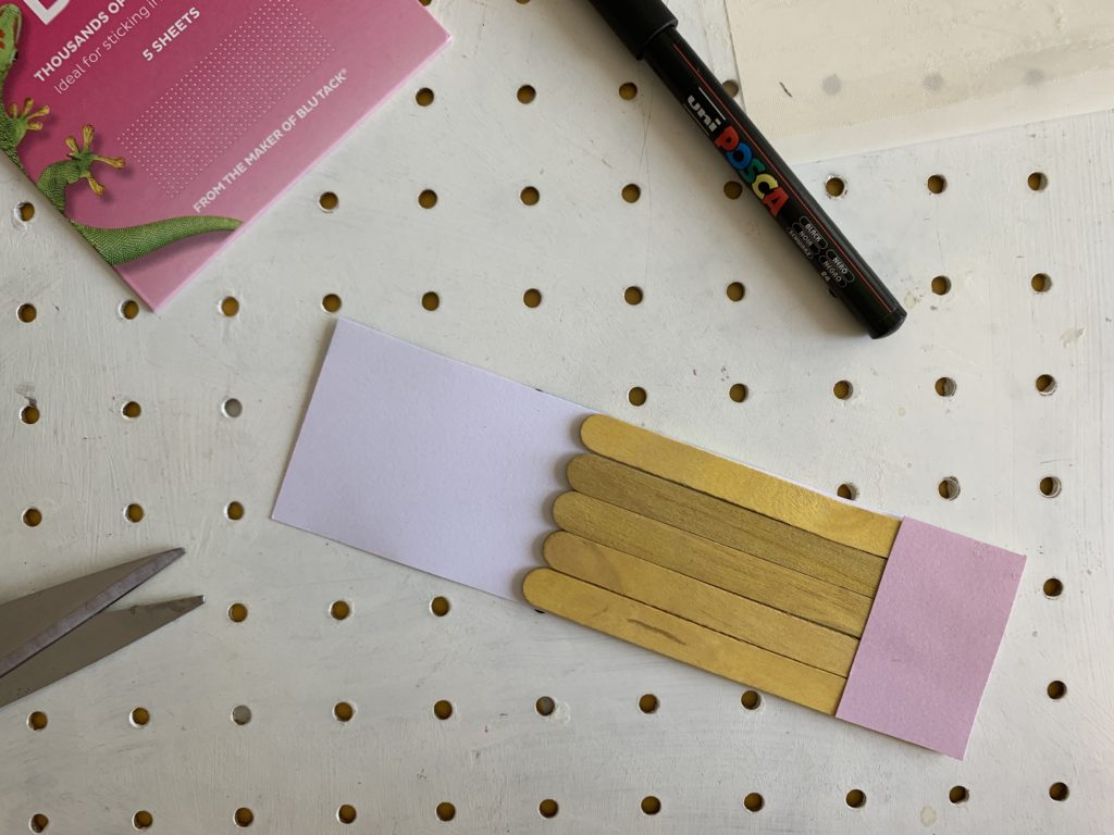 How to make a craft stick pencil craft
