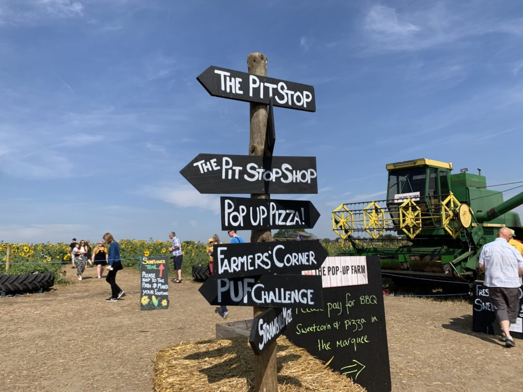 sign at The Pop Up Farm