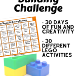 {Free printable} 30 day Lego building challenge